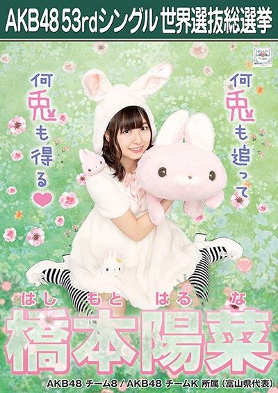 橋本陽菜 AKB48 53rdシングル 世界選抜総選挙ポスター