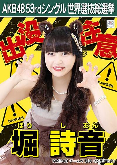 堀詩音 AKB48 53rdシングル 世界選抜総選挙ポスター