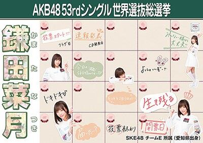 鎌田菜月 AKB48 53rdシングル 世界選抜総選挙ポスター