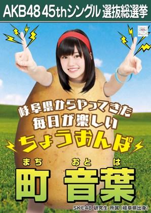 AKB48 45thシングル選抜総選挙ポスター 町音葉