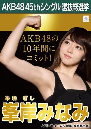 AKB48 45thシングル選抜総選挙ポスター 峯岸みなみ
