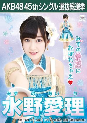 AKB48 45thシングル選抜総選挙ポスター 水野愛理