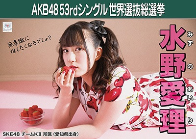 水野愛理 AKB48 53rdシングル 世界選抜総選挙ポスター