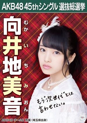 AKB48 45thシングル選抜総選挙ポスター 向井地美音