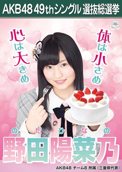 AKB48 49thシングル選抜総選挙ポスター 野田陽菜乃