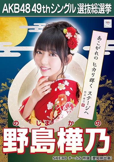 AKB48 49thシングル選抜総選挙ポスター 野島樺乃