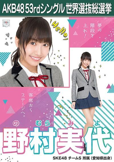 野村実代 AKB48 53rdシングル 世界選抜総選挙ポスター
