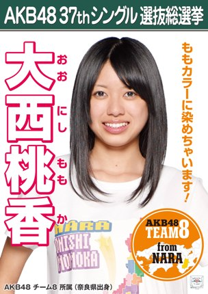AKB48 37thシングル選抜総選挙ポスター 大西桃香