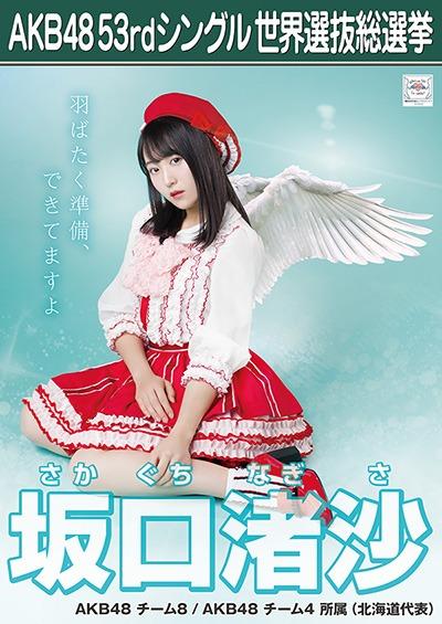 坂口渚沙 AKB48 53rdシングル 世界選抜総選挙ポスター
