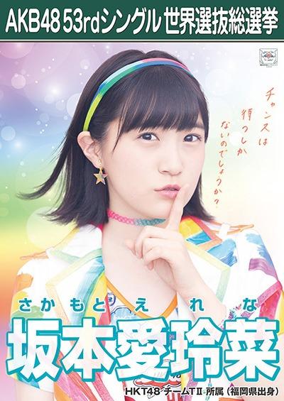 坂本愛玲菜 AKB48 53rdシングル 世界選抜総選挙ポスター