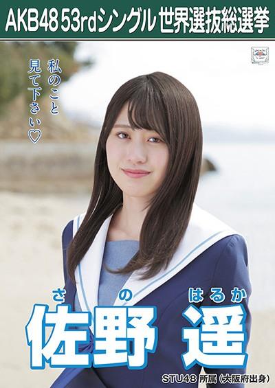 佐野遥 AKB48 53rdシングル 世界選抜総選挙ポスター