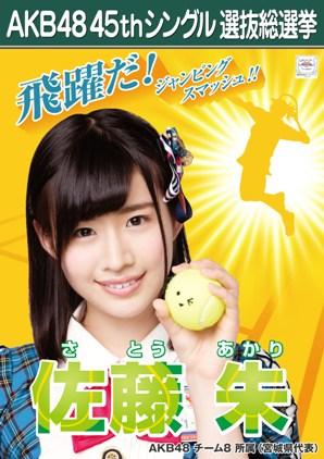 AKB48 45thシングル選抜総選挙ポスター 佐藤朱