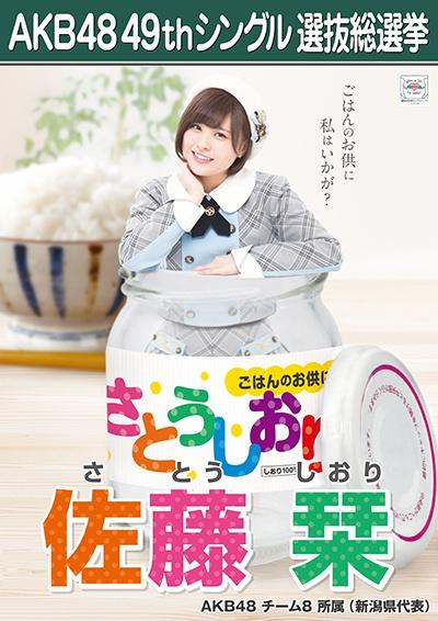 AKB48 49thシングル選抜総選挙ポスター 佐藤栞