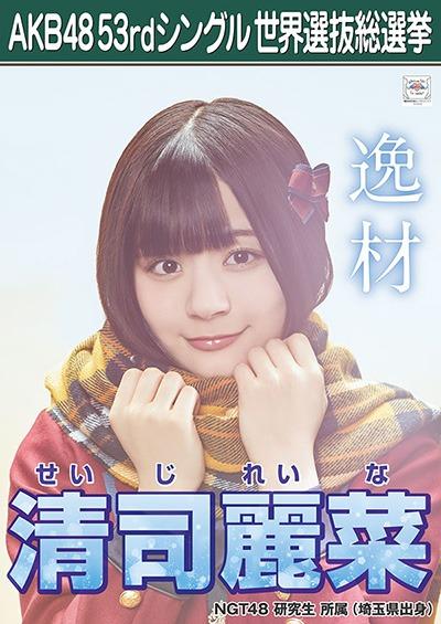 清司麗菜 AKB48 53rdシングル 世界選抜総選挙ポスター