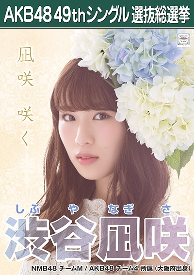 AKB48 49thシングル選抜総選挙ポスター 渋谷凪咲
