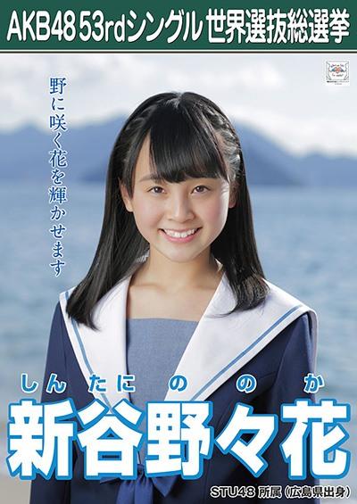 新谷野々花 AKB48 53rdシングル 世界選抜総選挙ポスター