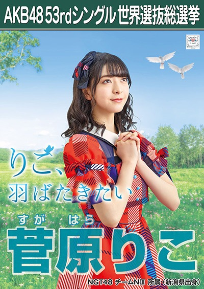 菅原りこ AKB48 53rdシングル 世界選抜総選挙ポスター
