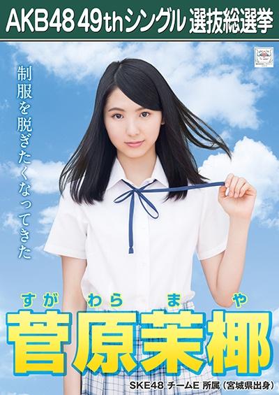 AKB48 49thシングル選抜総選挙ポスター 菅原茉椰