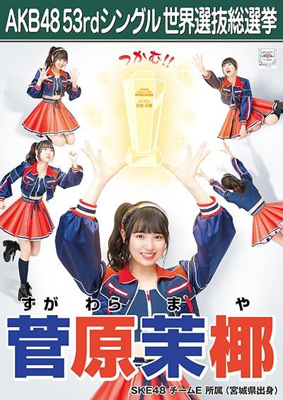 菅原茉椰 AKB48 53rdシングル 世界選抜総選挙ポスター