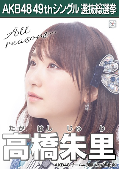 AKB48 49thシングル選抜総選挙ポスター 高橋朱里