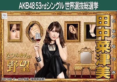 田中菜津美 AKB48 53rdシングル 世界選抜総選挙ポスター