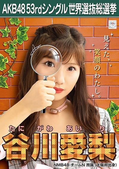 谷川愛梨 AKB48 53rdシングル 世界選抜総選挙ポスター