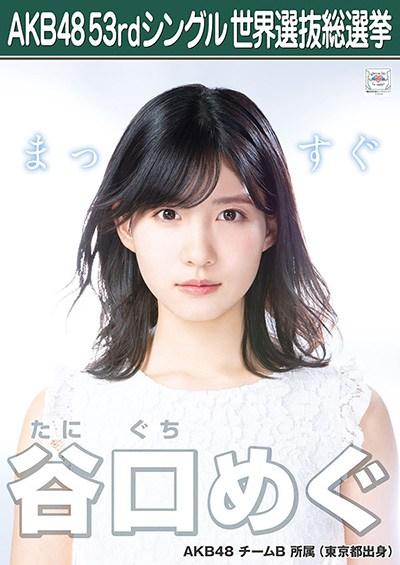谷口めぐ AKB48 53rdシングル 世界選抜総選挙ポスター