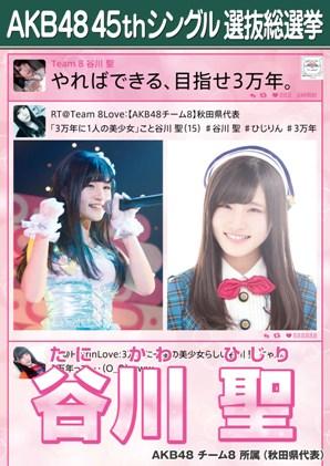 AKB48 45thシングル選抜総選挙ポスター 谷川聖
