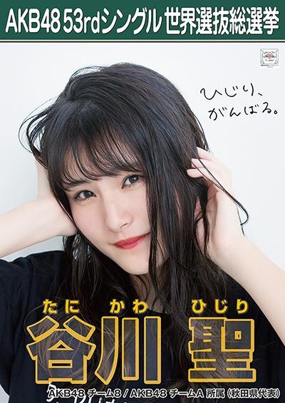 谷川聖 AKB48 53rdシングル 世界選抜総選挙ポスター