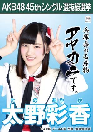 AKB48 45thシングル選抜総選挙ポスター 太野彩香