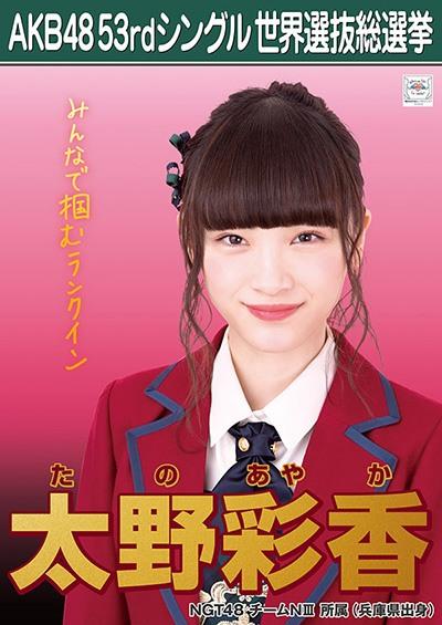 太野彩香 AKB48 53rdシングル 世界選抜総選挙ポスター