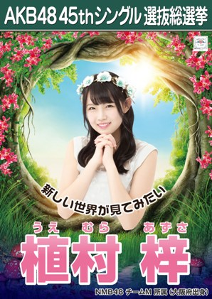 AKB48 45thシングル選抜総選挙ポスター 植村梓
