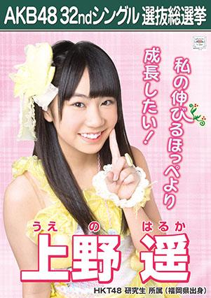 AKB48 32ndシングル選抜総選挙ポスター 上野遥