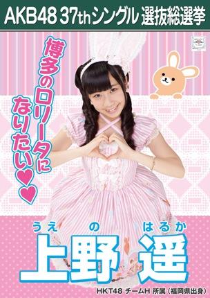 AKB48 37thシングル選抜総選挙ポスター 上野遥