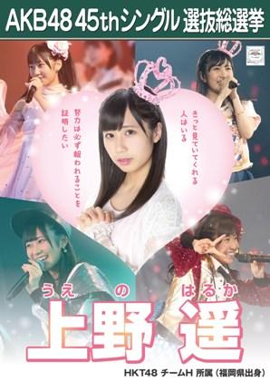 AKB48 45thシングル選抜総選挙ポスター 上野遥