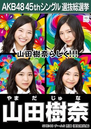 AKB48 45thシングル選抜総選挙ポスター 山田樹奈