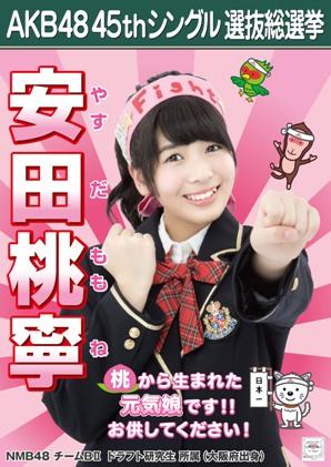 AKB48 45thシングル選抜総選挙ポスター 安田桃寧